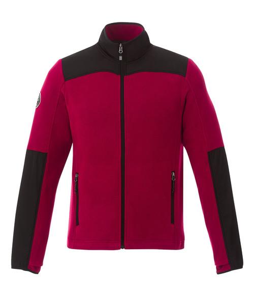 Seasonal Shop's Men's BRIGGSPOINT ROOTS73 Micro Fleece Jacket - Dark Red & Black