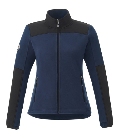 Seasonal Shop's Women's BRIGGSPOINT ROOTS73 Micro Fleece Jacket - Atlantic Navy & Black