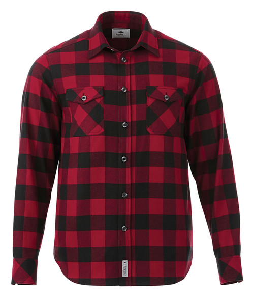 Seasonal Shop's Men's SPRUCELAKE ROOTS73 Long Sleeve Shirt - Dark Red & Black