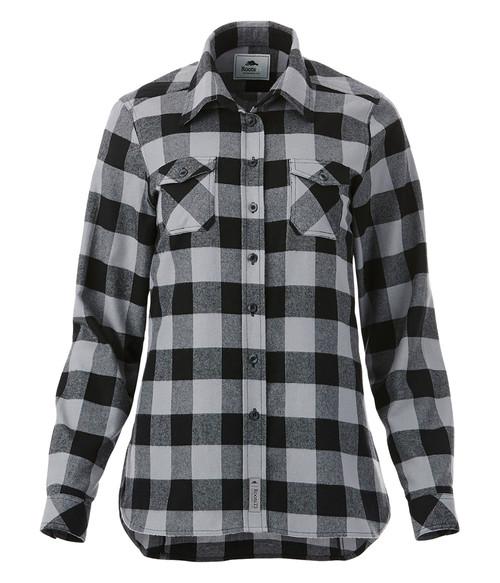 Seasonal Shop's Women's SPRUCELAKE ROOTS73 Long Sleeve Shirt - Quarry & Black