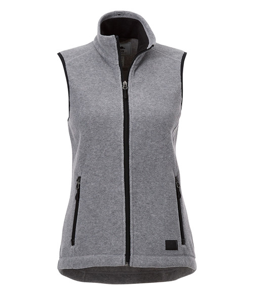 Seasonal Shop's Women's WILLOWBEACH ROOTS73 Micro Fleece Vest - Charcoal Mix