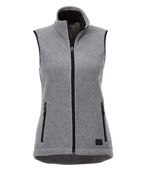 Seasonal Shop's Women's WILLOWBEACH ROOTS73 Micro Fleece Vest - Charcoal Mix