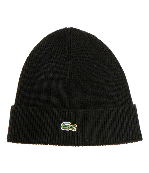 Seasonal Shop's Lacoste Unisex Knitted Cap - Black