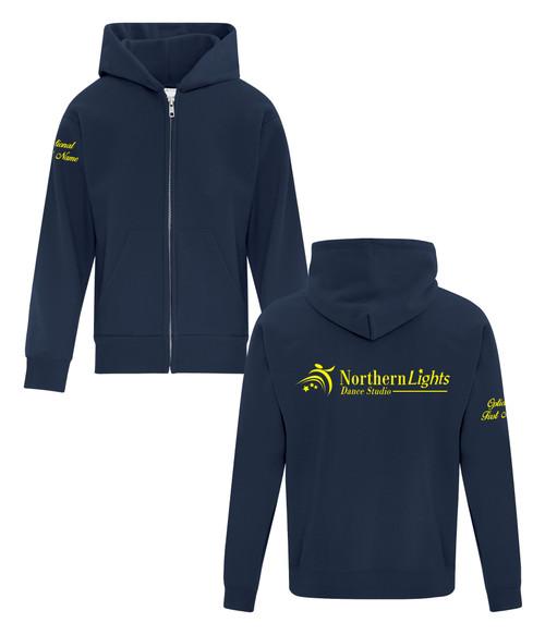 Northern Lights Dance Studio Youth Fleece Hooded Full Zip Sweatshirt