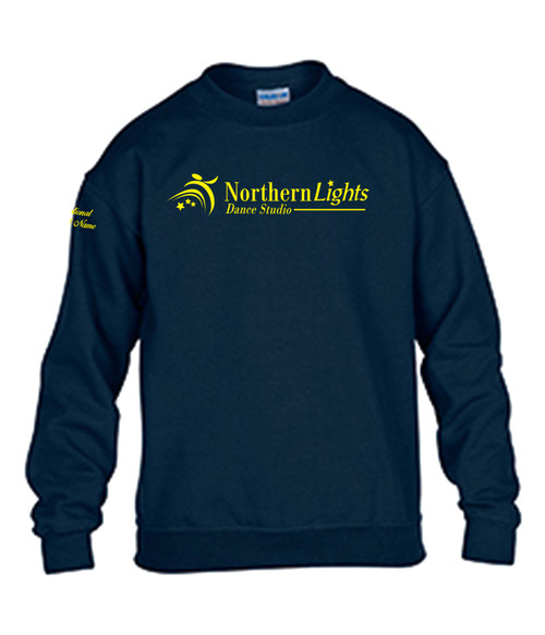 Northern Lights Dance Studio Youth Heavy Blend Crewneck Sweater