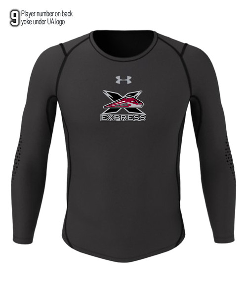 York-Simcoe Express Hockey Adult Compression Long Sleeve Tee