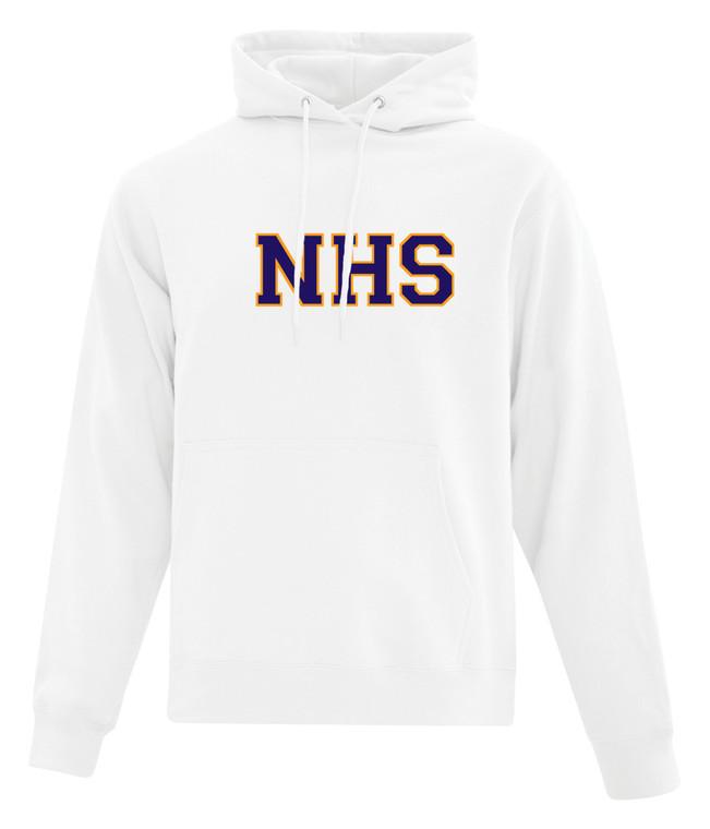 Newmarket High School White Hoody - Purple on Gold