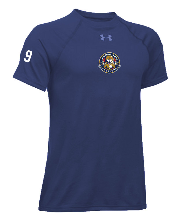 Central York Panthers Women's Blue Short Sleeve Training Tee