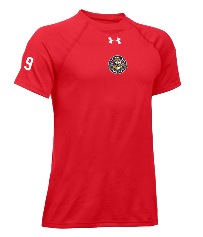 Central York Panthers Youth Red Short Sleeve Training Tee