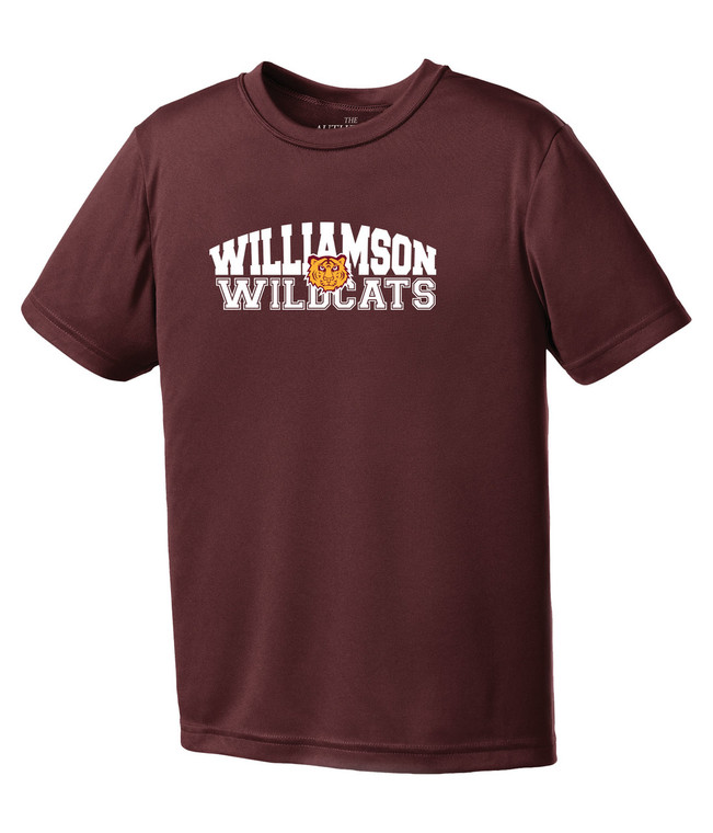 Williamson Wildcats Youth Type & Tiger Logo Short Sleeve Tee