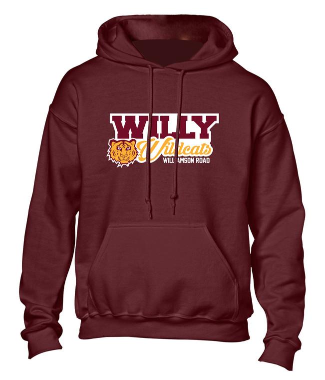 Williamson Wildcats Adult Willy Wildcats Logo Hoody