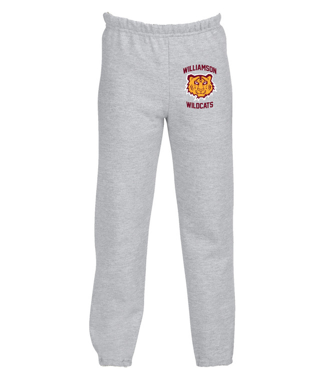 Williamson Wildcats Youth Tiger Head Logo Sweatpants