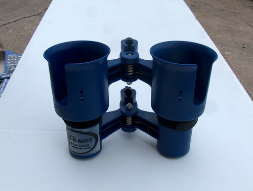 Blue Twin Cup Holder