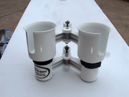 White Twin Cup Holder