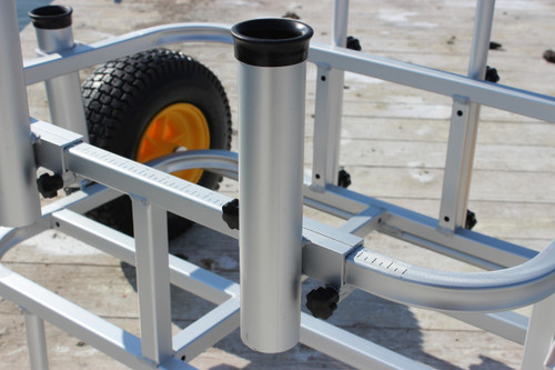 Detachable Rod Holder for Cart or Trolley