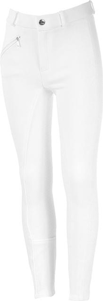Horze Active Silicone Seat Junior (Kids) Breeches (White)