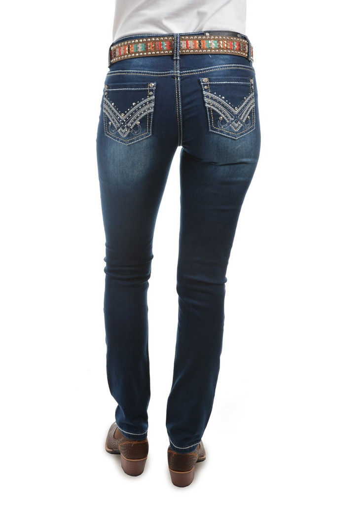 Pure Western 'Harlee' Womens Skinny Leg Jeans (Size 8)