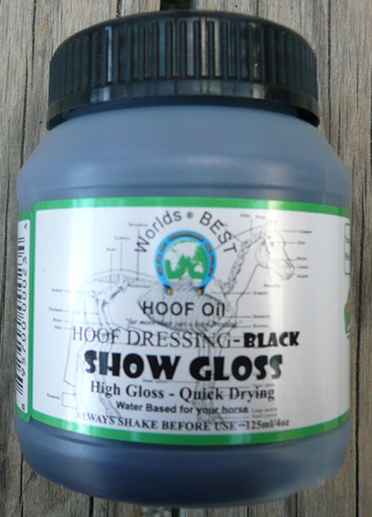 Worlds Best Hoof Oil Show Gloss 125ml Black/Clear