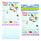 Pony Pals Party Invitations Pk/8