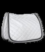 Waldhausen Competition Dressage Saddle Pad w/ White & Grey Binding