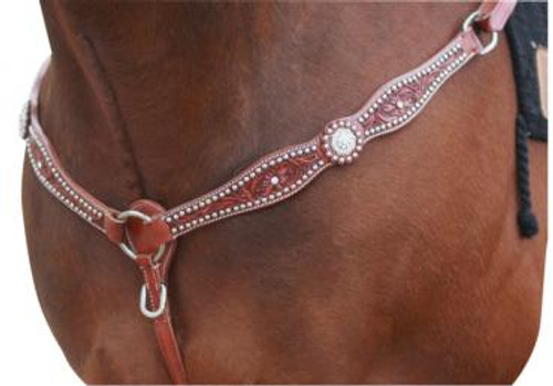 CLEARANCE: Western Breastplate With Swarovski Crystal & Studs (Cob)