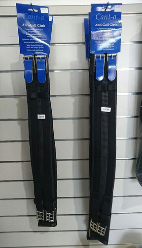 CLEARANCE: Cant-a Anti-Gall Elastic Lonsdale Girth (Black)