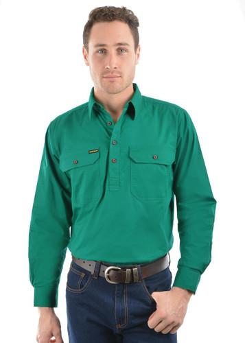 Thomas Cook Mens Hard Slog Half Placket LIGHT Work Shirt