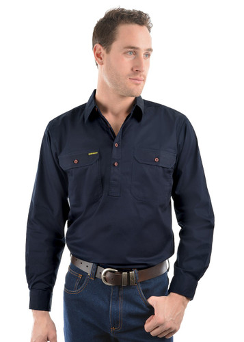 Thomas Cook Mens Hard Slog Half Placket LIGHT Work Shirt