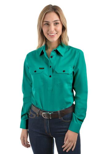 Thomas Cook Womens Hard Slog Half Placket LIGHT Work Shirt