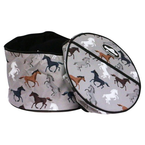 Showmaster Riding Helmet Carry Bag (Horse Print)