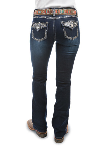 """Pure Western 'Taylor' Boot Cut Jeans 34"""" Leg (Size 8)"""