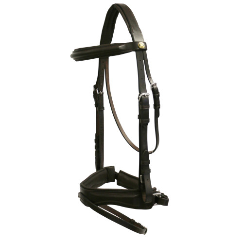 SPECIAL: Jeremy & Lord Premier Padded Snaffle Bridle w/Nappa Reins (Cob/Brown)