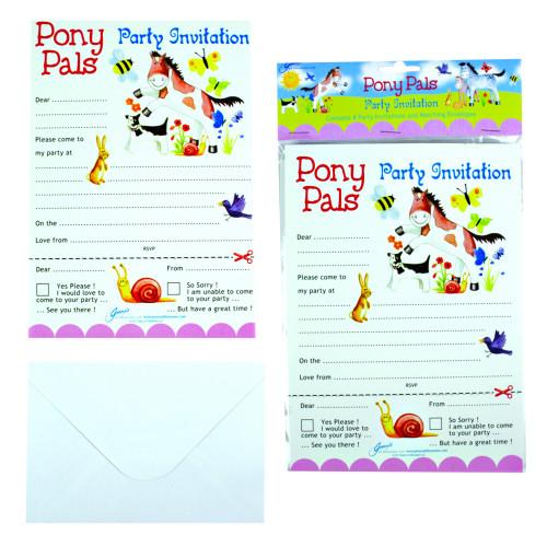 Pony Pals Party Invitations Pk/8