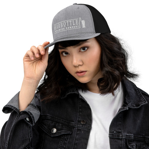 White Logo Trucker Cap