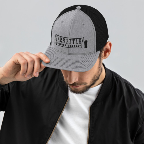 Black Logo Trucker Cap