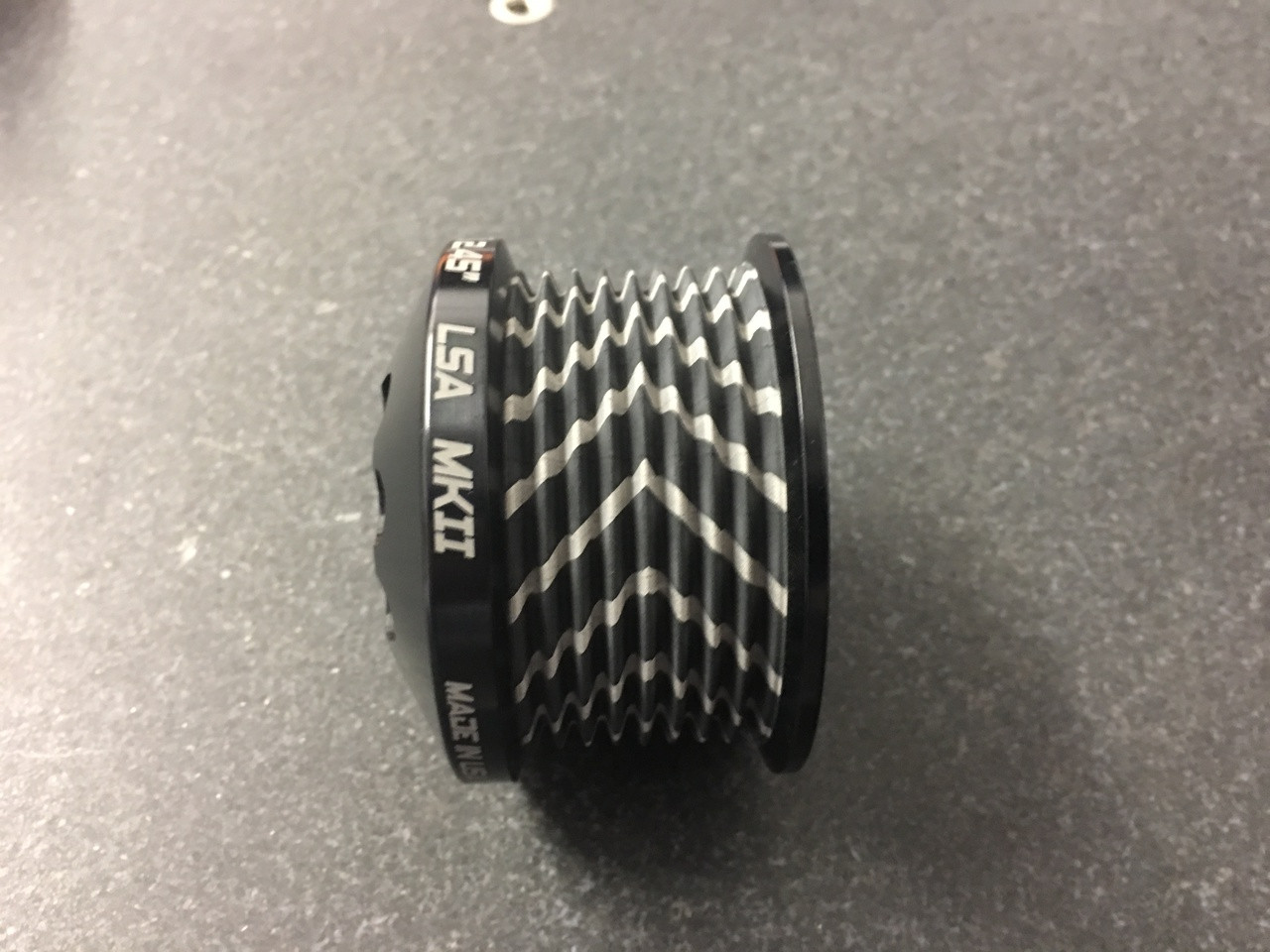 """MKII LS9 Pulley Ø 2.30""""  Black W/GripTec®  V2 (11 Rib Pulley Only)"""
