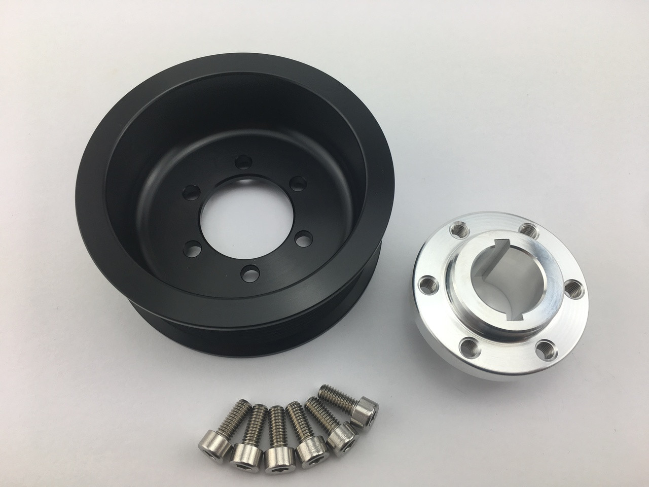"3.375"" 2pc 6 Rib ""Offset""  Black L3 Kit Hub Included"