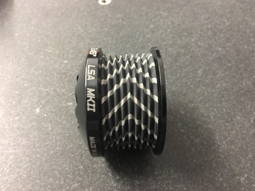 """MKII LS9 Pulley Ø 2.35""""  Black W/GripTec®  V3 (11 Rib Pulley Only)"""