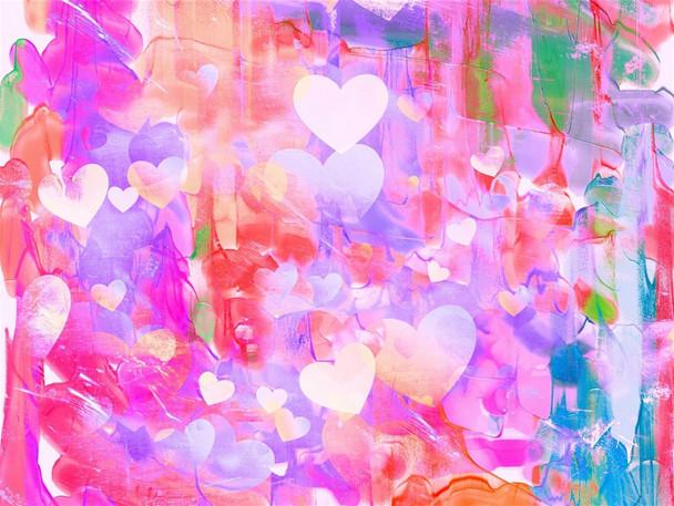 Mini Mosaic Kit: Heart on Hearts 20 x 25cms(KMMHHEARTS)