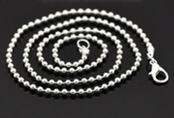 Chain: Silver Plated Ball Chain 45cm