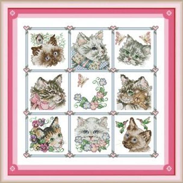 Cross Stitch Kit: Cats (63x63cm)(XSCATS)