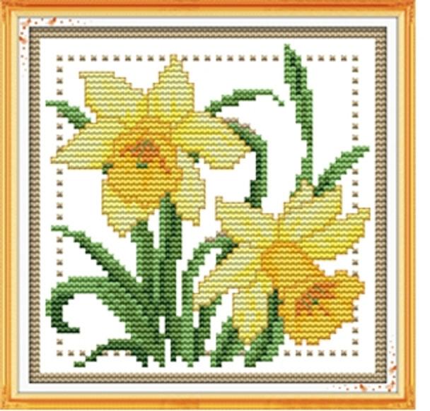 Cross Stitch Kit: Daffodils (21x21cm)(XSDAFF)