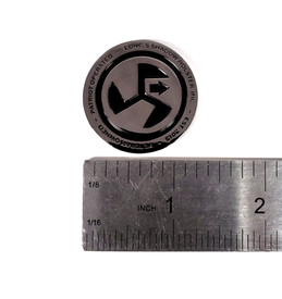 "LSHI Challenge Coin 1.25"" x 1/8"" dimensions"