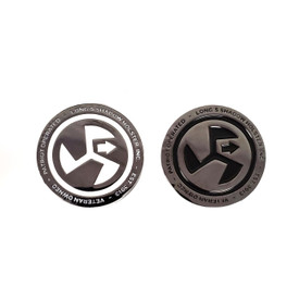 LSHI Challenge Coin Distinctive Black and White Embossed lettering and Logo with Black Chrome