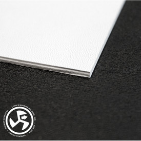 "Specifications Material: BOLTARON® Sheet Color: White (Printable) Gauge: .100"" Texture: Equivalent to P1 Haircell/Smooth  Size: 8"" x 12"
