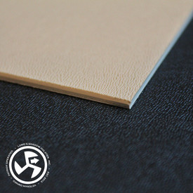 """Specifications Material: BOLTARON® Sheet Color: Tan (Printable) Gauge: .100"""" Texture: Equivalent to P1 Haircell/Smooth  Size: 8"""" x 12"""