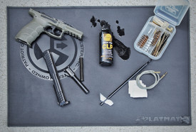 """Custom Long's Shadow Holster Logo 22.5"""" x 15.5"""" Gun Cleaning Mat by Splatmat®"""