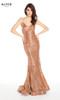 Alyce 60604 long mermaid sequin dress with a v-neckline