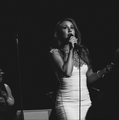 Haley Reinhart wears ALYCE Paris in Paris!