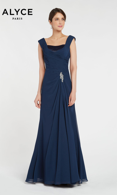 Formal Dress: 29300. Long, Off The Shoulder, Flowy
